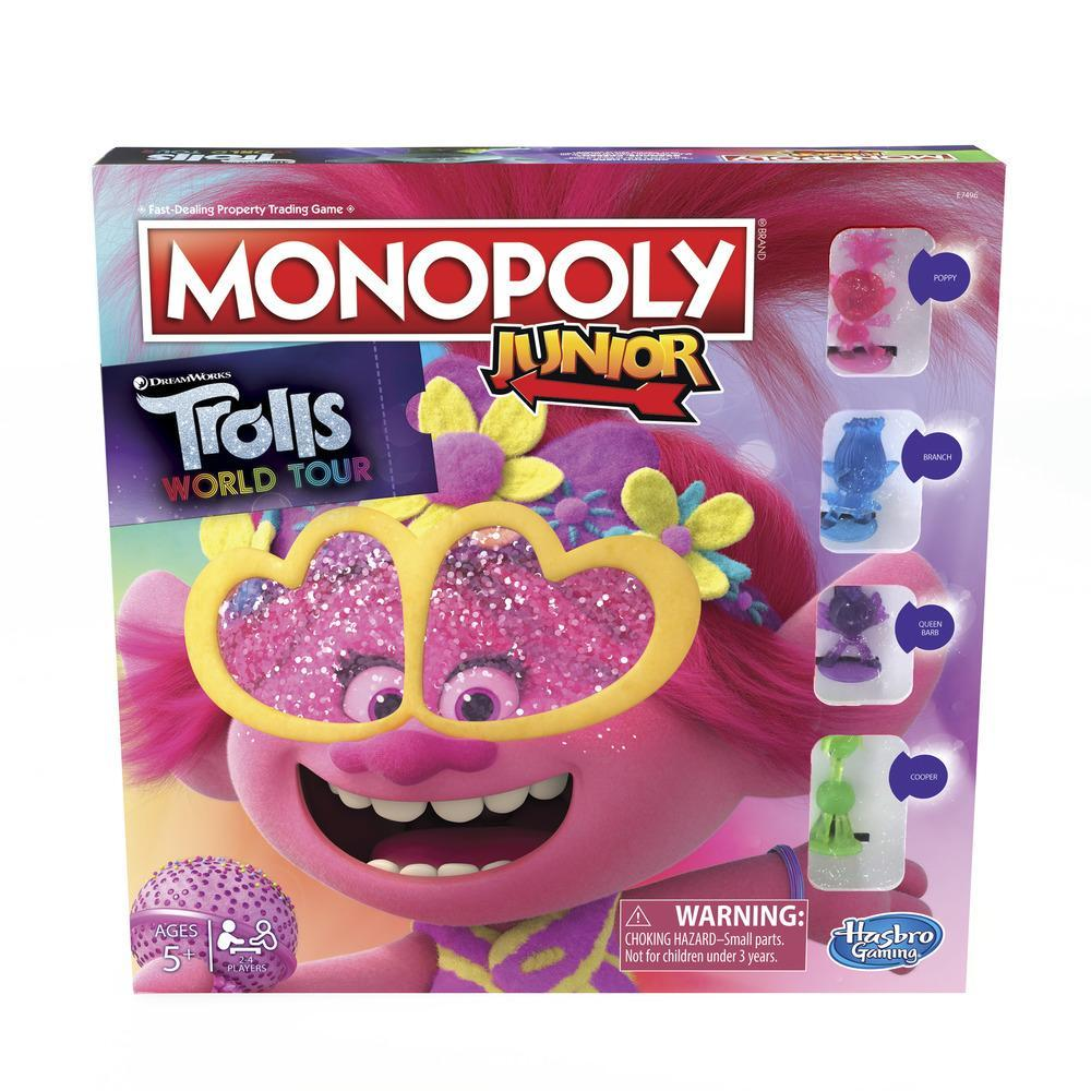 Juego de mesa Monopoly Junior: Trolls 2 Gira Mundial de DreamWorks