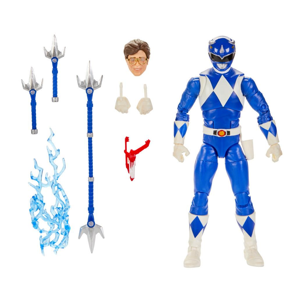 Power Rangers Lightning Collection - Blue Ranger premium de 15 cm - Figura coleccionable con accesorios