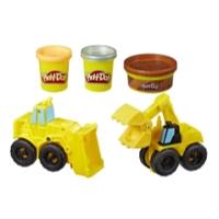 Vehículos de construcción Play-Doh Wheels Excavadora y cargadora con masa de construcción no tóxica y 2 colores adicionales