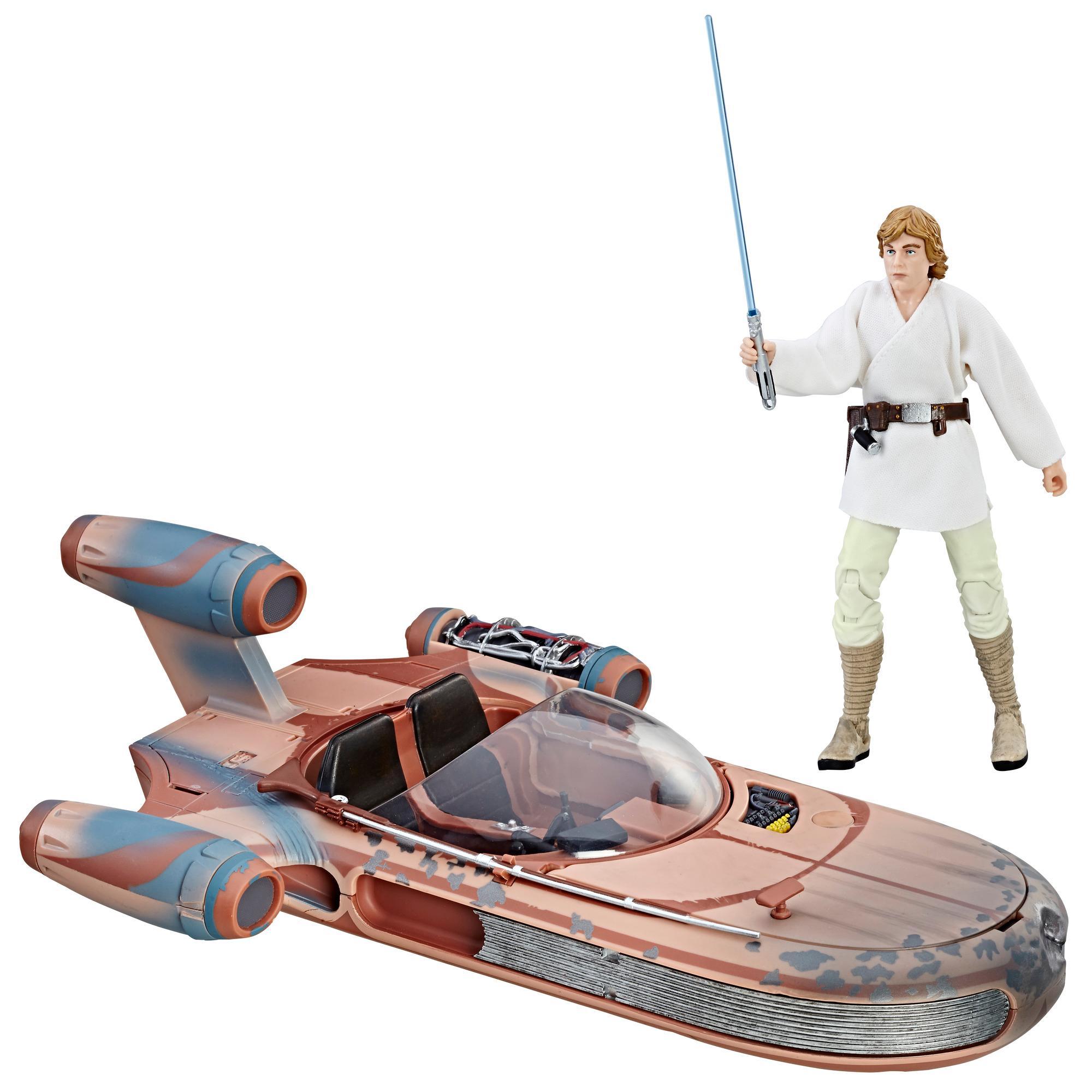 Star Wars The Black Series - Deslizador terrestre & Figura de Luke Skywalker