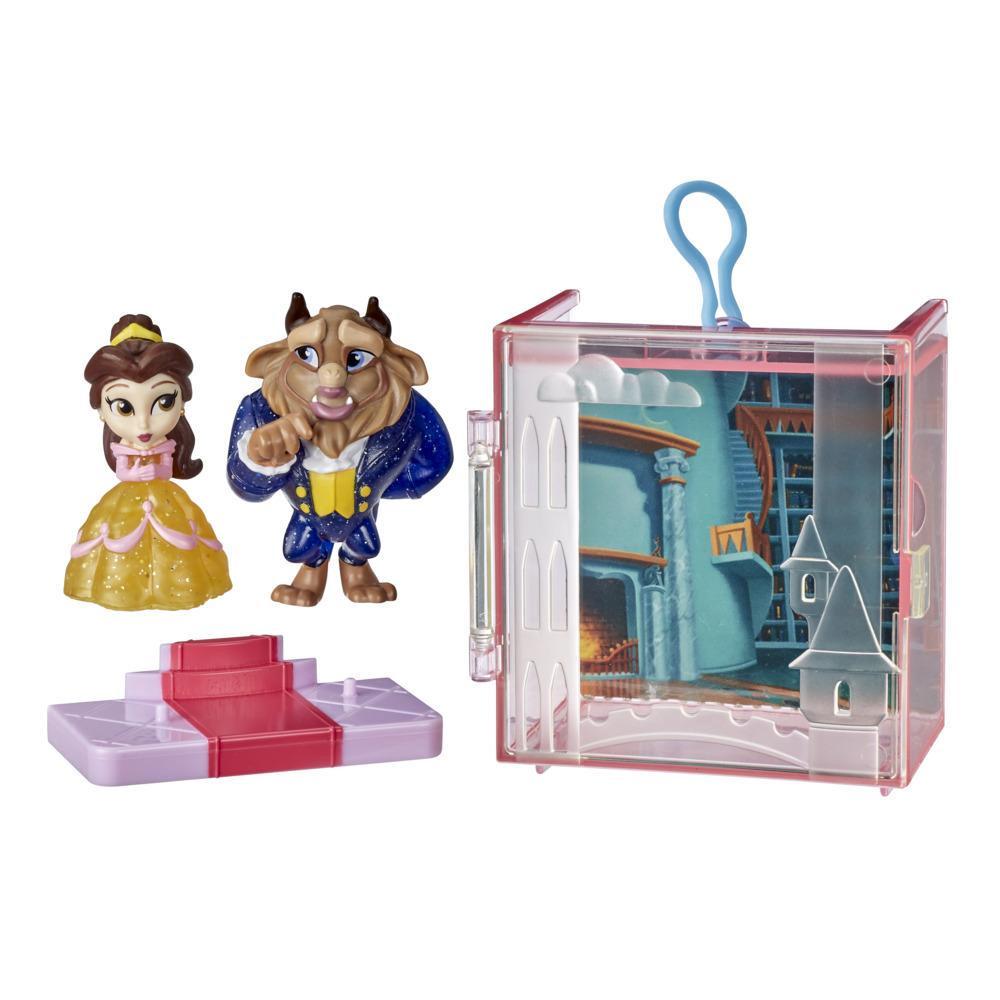 Disney Princess - Parejas perfectas - Bella - divertido juguete con 2 figuras, estuche portátil y base, Edad: 3+
