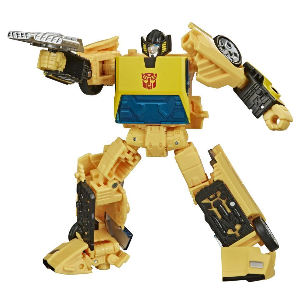 Juguetes Transformers Generations War for Cybertron: Earthrise - Figura WFC-E36 Sunstreaker clase de lujo - 14 cm - Edad: 8+