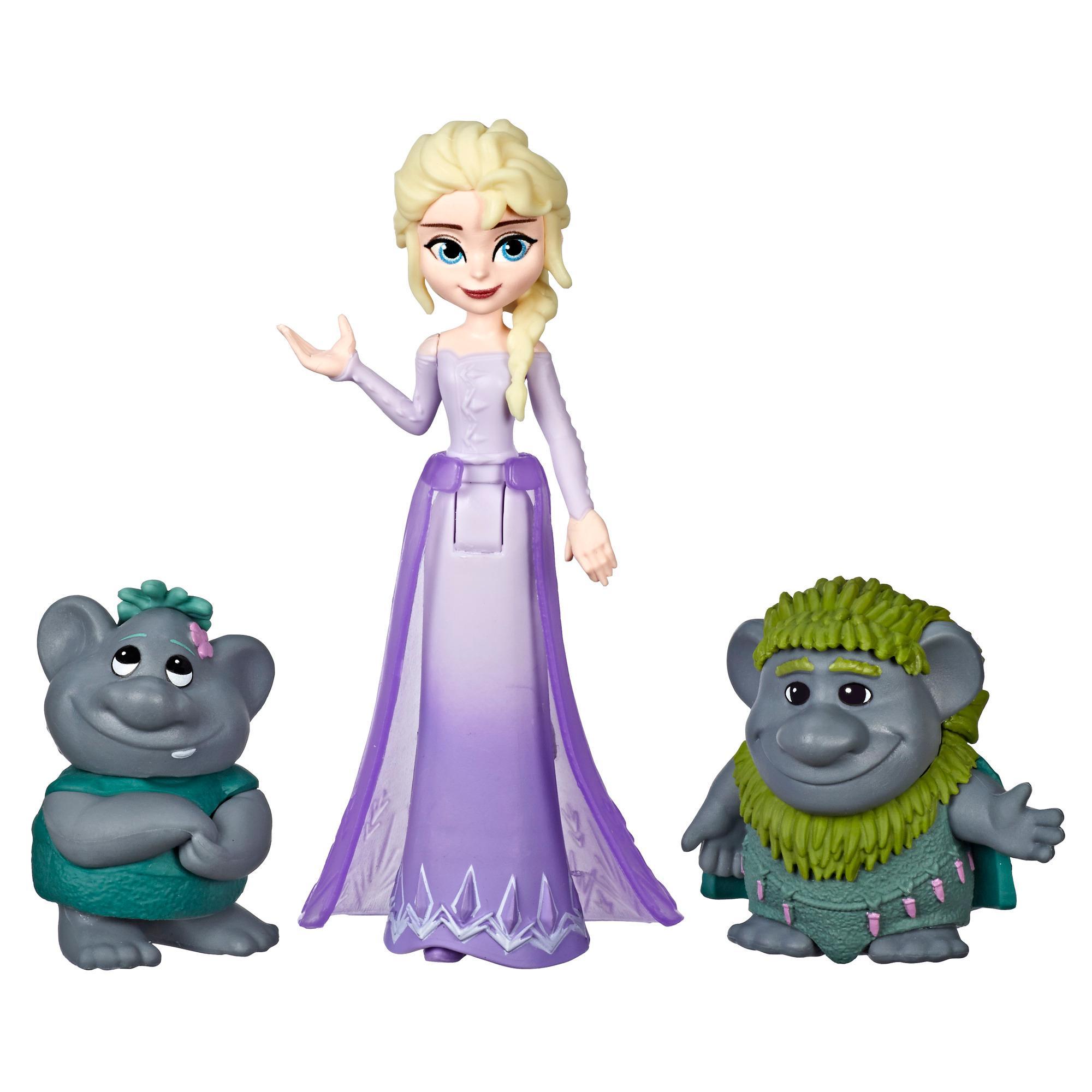 Disney Frozen - Muñeca pequeña de Elsa y figuras de Trolls inspiradas en la película de Disney Frozen 2