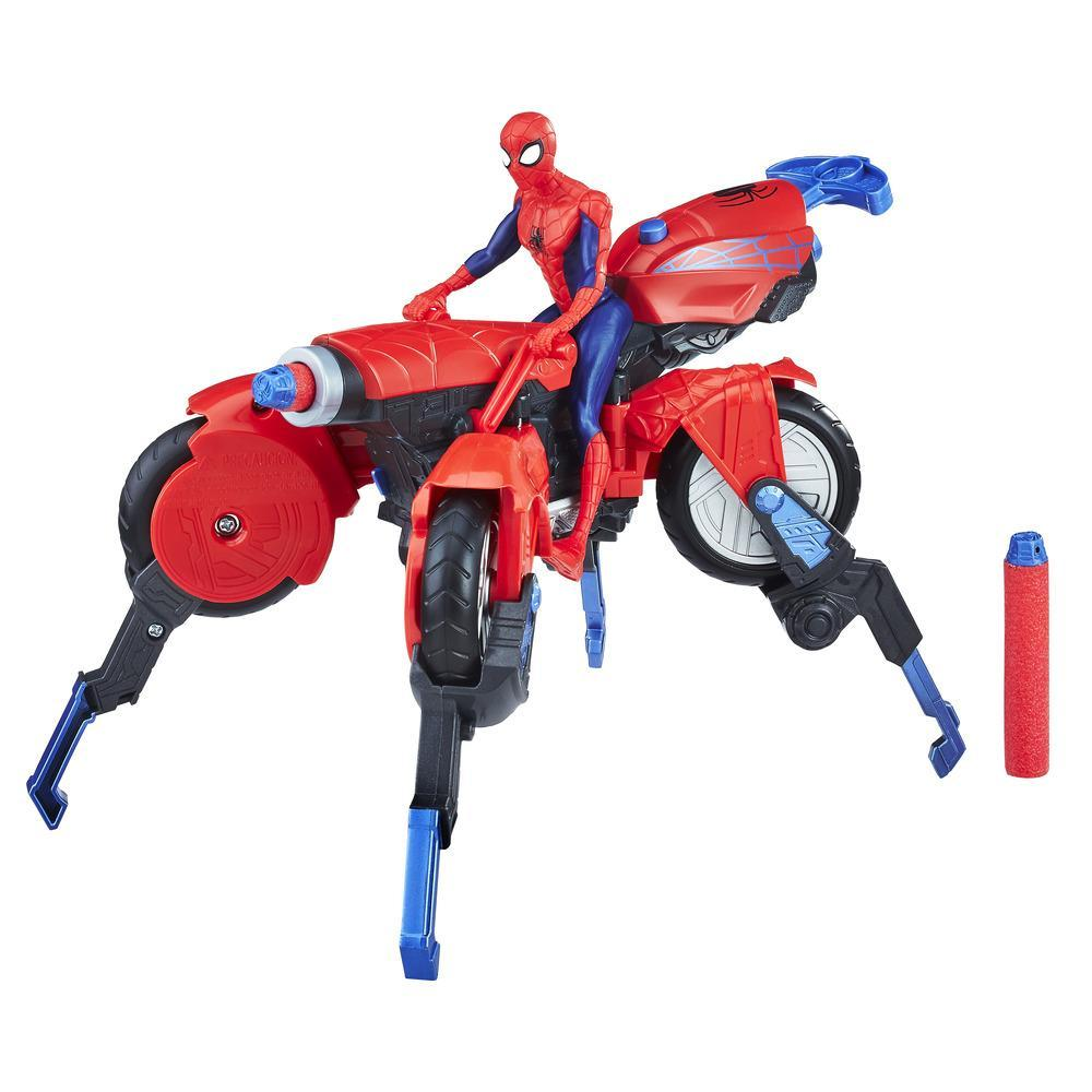 Marvel Spider-Man - Aracnomoto 3 en 1 con figura de Spider-Man