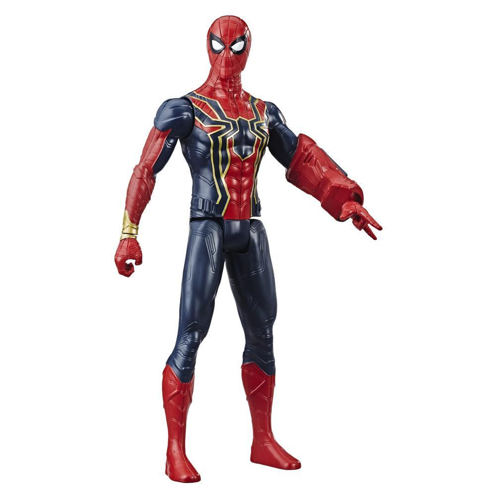 Marvel Avengers Titan Hero Series Iron Spider - Figura de superhéroe de 30 cm con puerto para Titan Hero Power FX