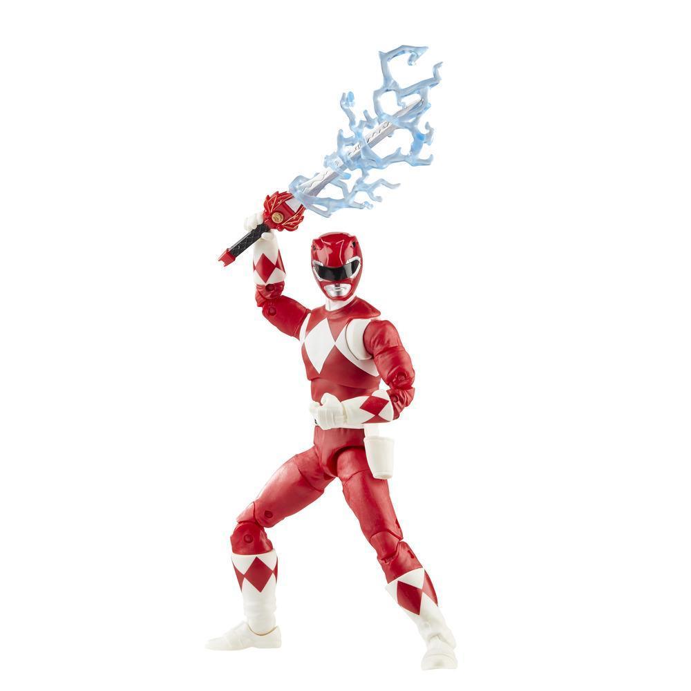 Power Rangers Lightning Collection - Mighty Morphin Red Ranger de 15 cm - Figura de acción coleccionable con accesorios