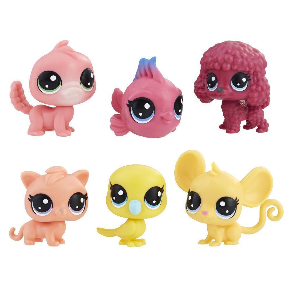 Littlest Pet Shop Set de colección de 6 mascotas