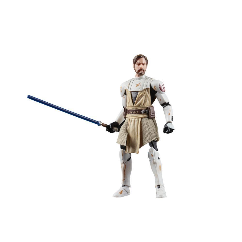 Star Wars La colección Vintage - Star Wars: The Clone Wars - Figura de Obi-Wan Kenobi a escala de 9,5 cm - Edad: 4+