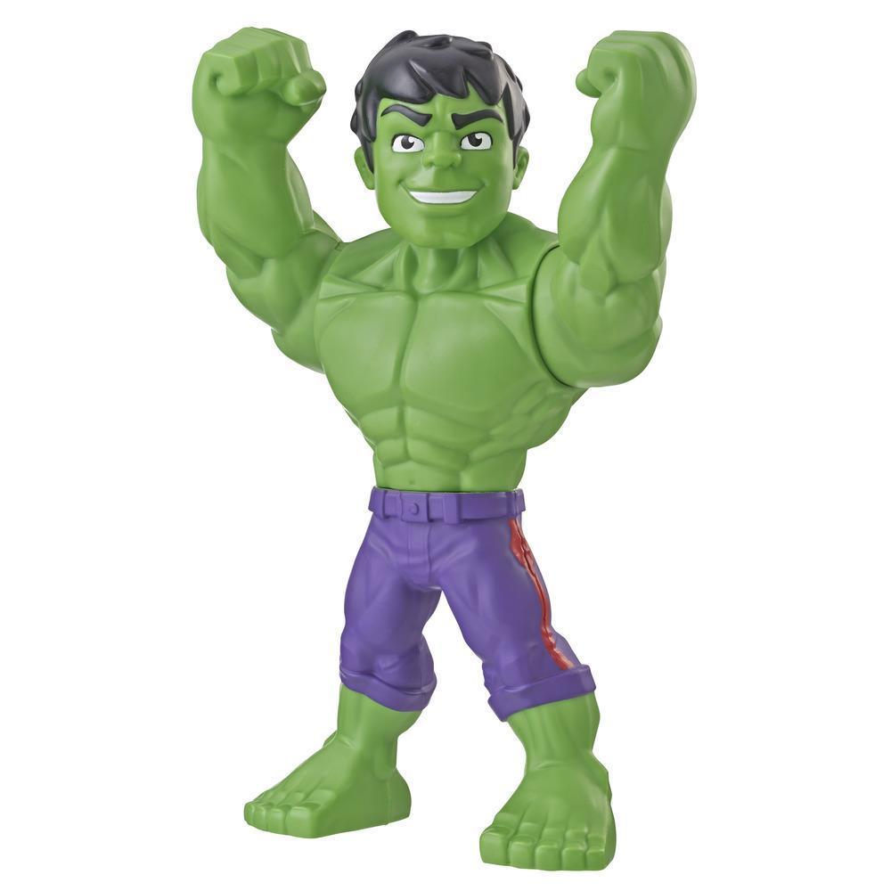 Playskool Heroes Marvel Super Hero Adventures Mega Mighties - Hulk- Figura de acción coleccionable de 25 cm - Juguetes para niños de 3 años en adelante
