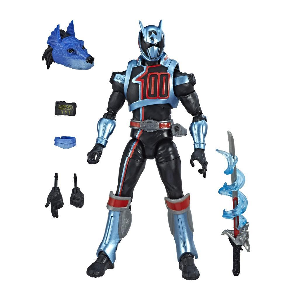 Power Rangers Lightning Collection - Power Rangers S.P.D. Shadow Ranger - Figura de acción coleccionable de 15 cm