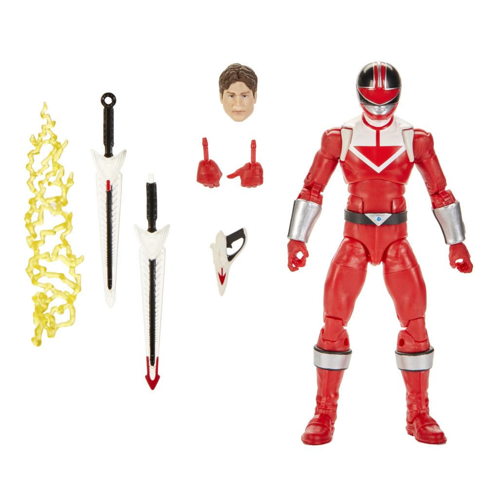 Power Rangers Lightning Collection - Time Force Red Ranger premium de 15 cm - Figura coleccionable con accesorios