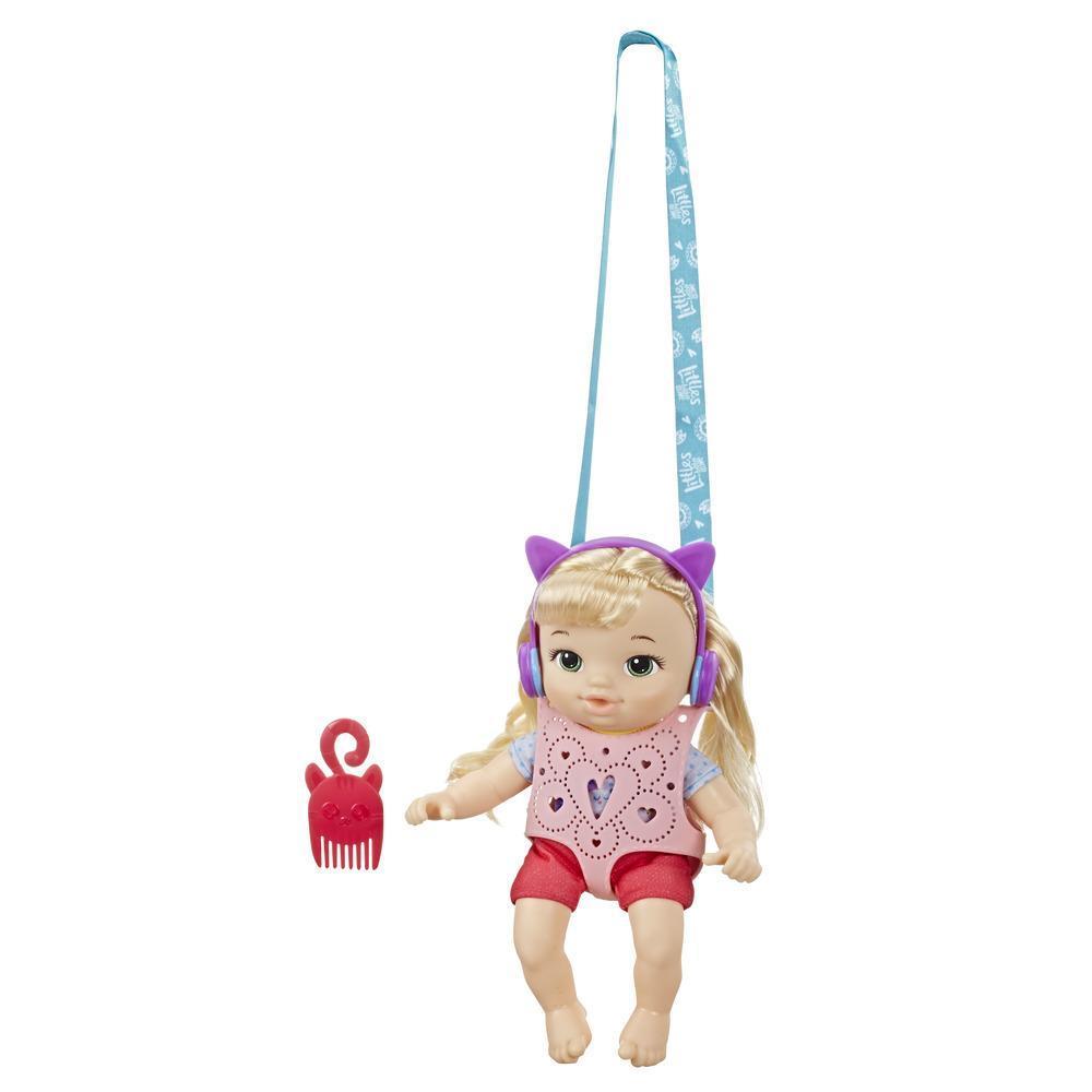 Littles by Baby Alive - Equipo de aventuras: Little Chloe, muñeca con cabello rubio, portabebé - Juguete para niños y niñas de 3 años en adelante