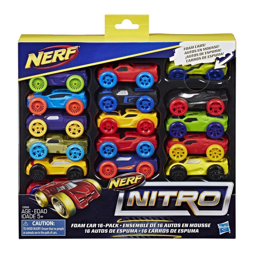 Nerf Nitro - Set de 16 autos de espuma (versión 1)