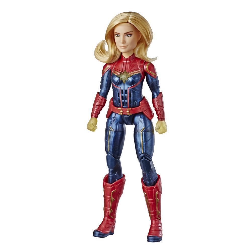 Marvel Película Captain Marvel - Muñeca electrónica de superheroína Captain Marvel Efectos Fotón de la película (para niños de 6 años en adelante)