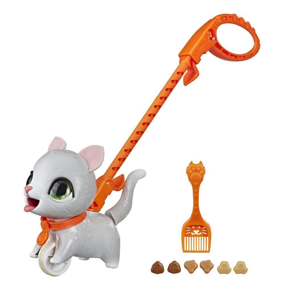furReal Peealots Pequeños paseos - Tabby - Gatita de juguete interactiva