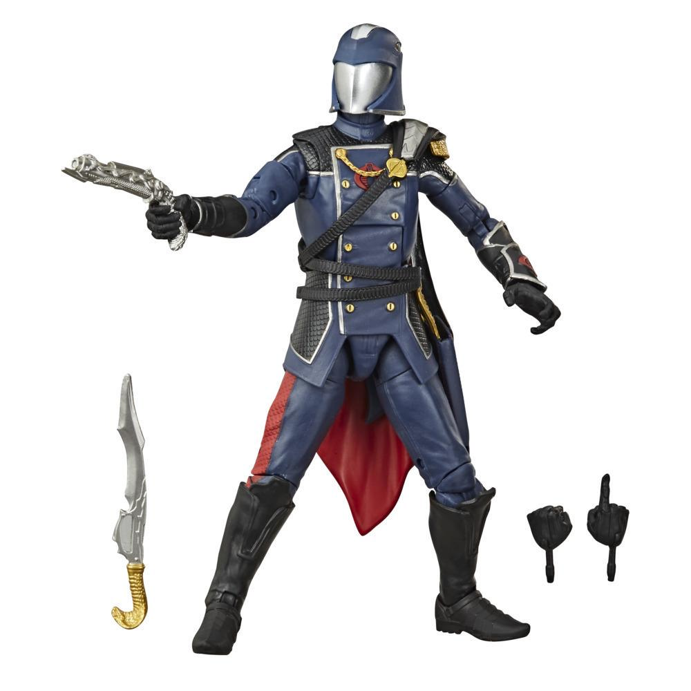 G.I. Joe Classified Series - Figura Cobra Commander 06 con múltiples accesorios y empaque con arte distintivo