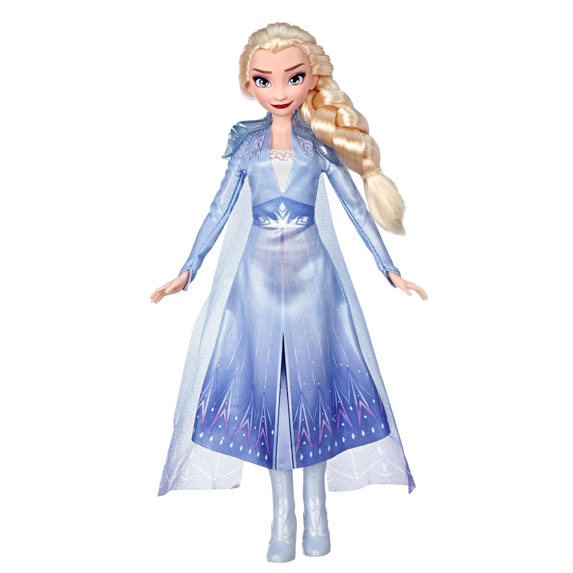 Disney Frozen - Muñeca de Elsa con cabello largo y rubio y vestimenta azul, inspirada en la película Frozen 2 - Juguete para niños y niñas de 3 años en adelante