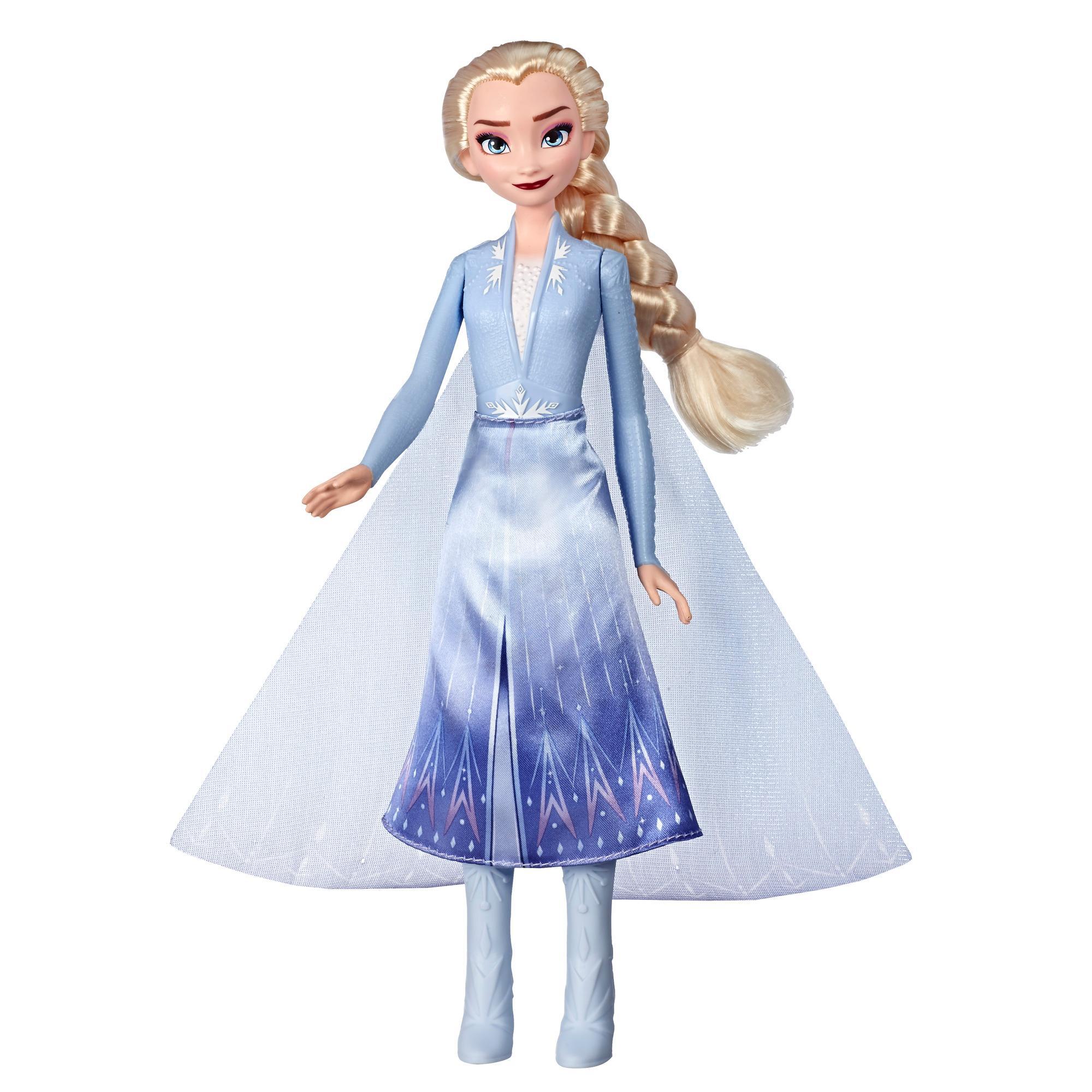 Disney Frozen - Elsa Aventura mágica - Muñeca que se ilumina inspirada en la película Frozen 2 de Disney - Juguete para niños y niñas de 3 años en adelante