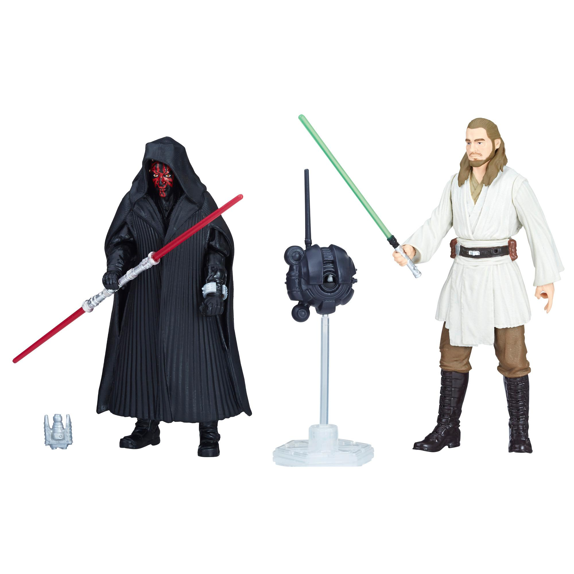 Star Wars Force Link 2.0 - Figuras de Darth Vader y Qui-Gon Jinn