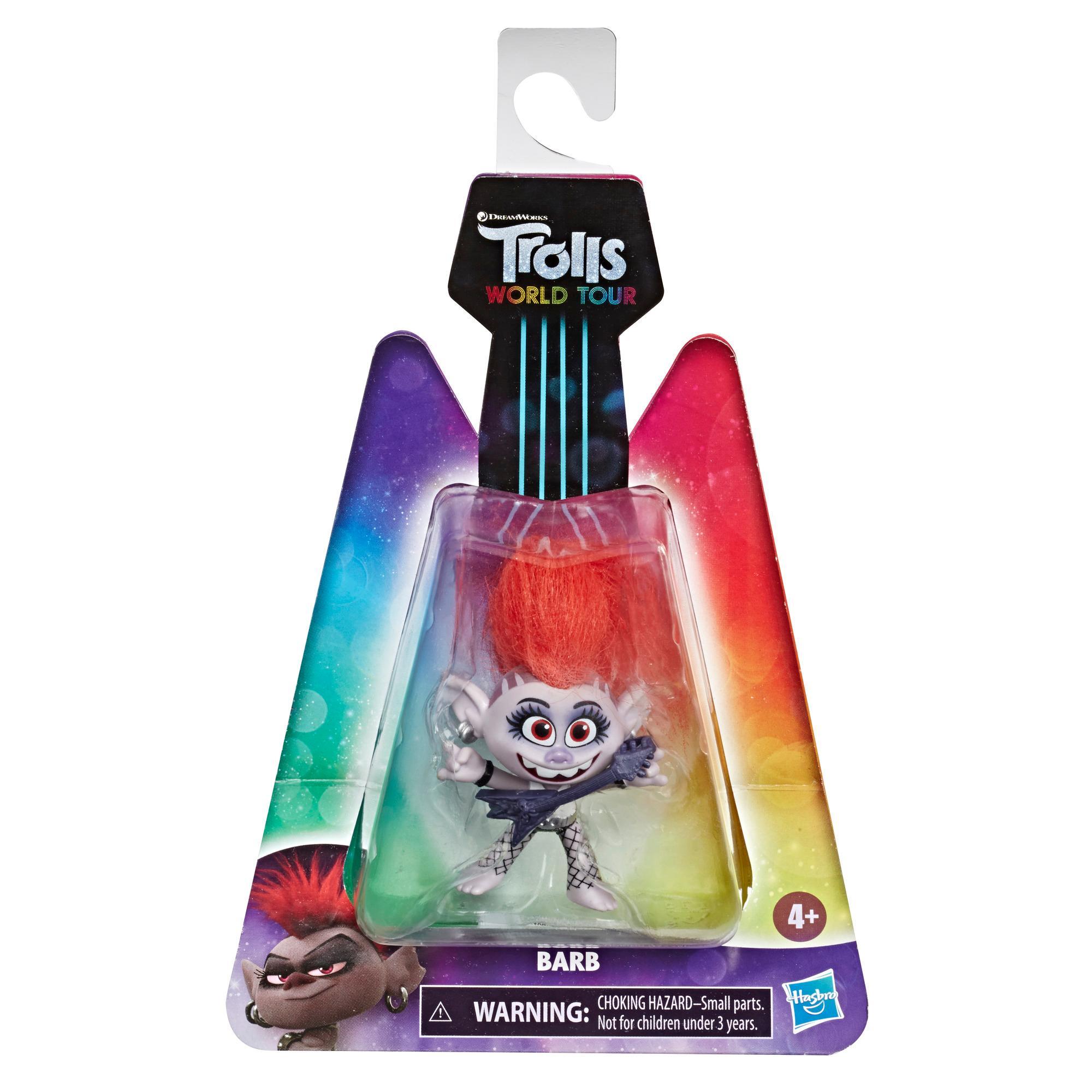 DreamWorks Trolls World Tour - Barb - Figura de Barb con guitarra - Juguete inspirado en la película Trolls 2