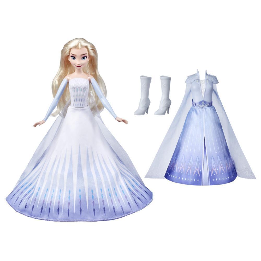 Frozen 2 de Disney - Transformación de Elsa - Muñeca con 2 conjuntos - Juguete inspirado en Frozen 2 de Disney