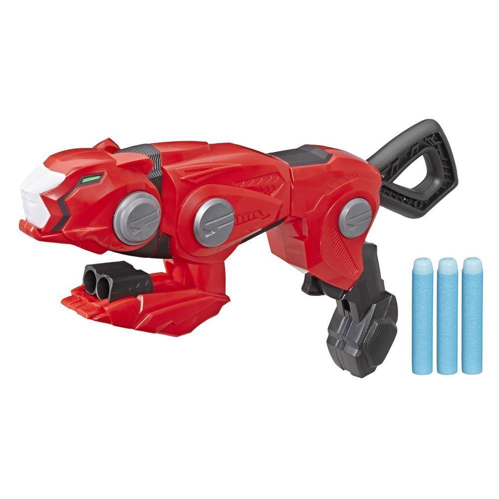 Power Rangers Beast Morphers -  Cheetah Beast Blaster - Lanzador del Ranger Rojo de la serie de TV Power Rangers