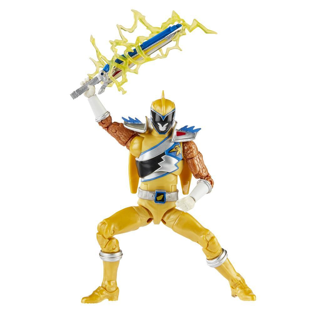 Power Rangers Lightning Collection - Dino Charge Gold Ranger de 15 cm - Figura de acción coleccionable con accesorios