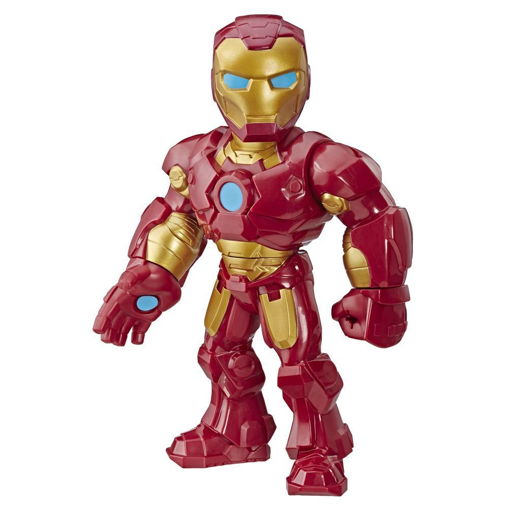 Playskool Heroes Marvel Super Hero Adventures Mega Mighties - Iron Man - Figura de acción coleccionable de 25 cm - Juguetes para niños de 3 años en adelante