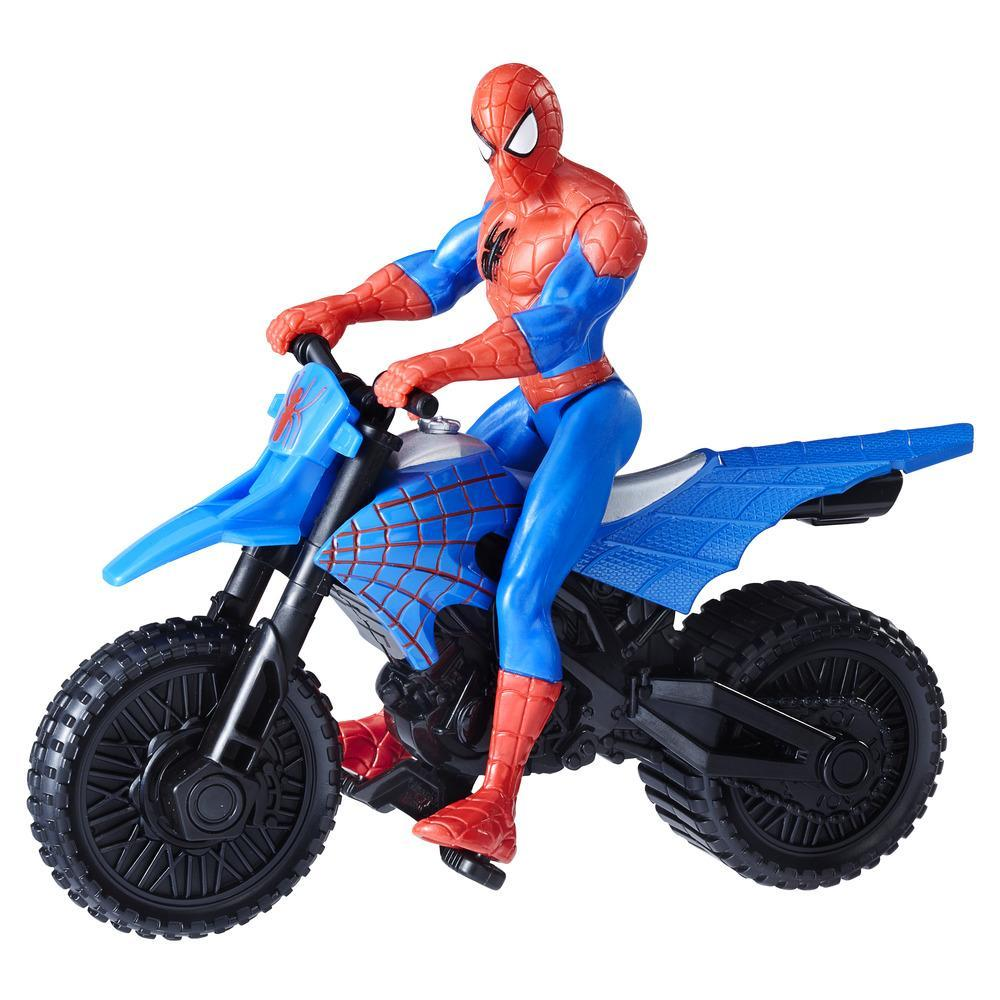 Marvel Spider-Man con moto supercross