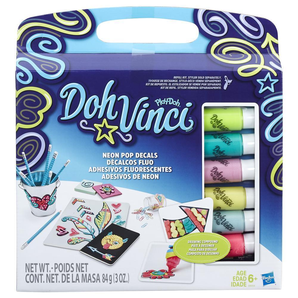 Play-Doh DohVinci Adhesivos fluorescentes - Kit de repuesto