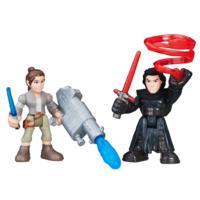 Star Wars Héroes Galácticos -  Rey (traje de la Resistencia) y Kylo Ren