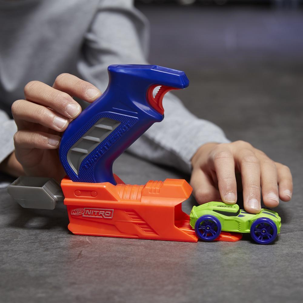 Nerf Nitro ThrottleShot Blitz (lanzador azul)