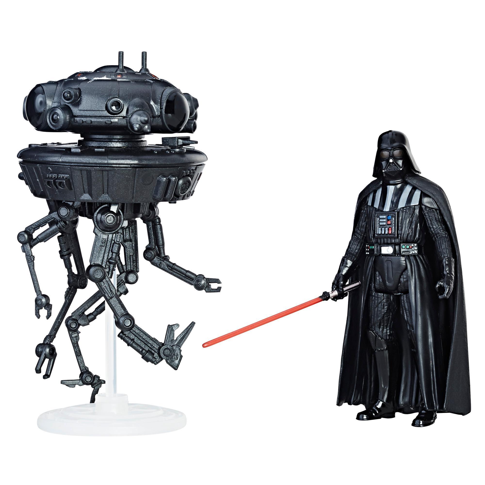 Star Wars Force Link - Droide sonda imperial y figura de Darth Vader