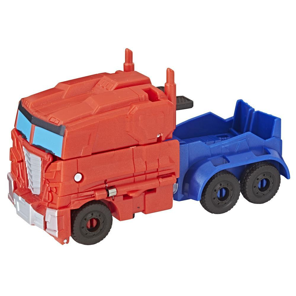Transformers Cyberverse - Optimus Prime Cambiador de 1 paso