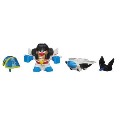 Sr. Cara de Papa Playskool Transformers Papa-héroes combinables como Starscream robot y jet