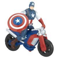 Marvel Avengers - Figura de Captain America de 15 cm y vehículo