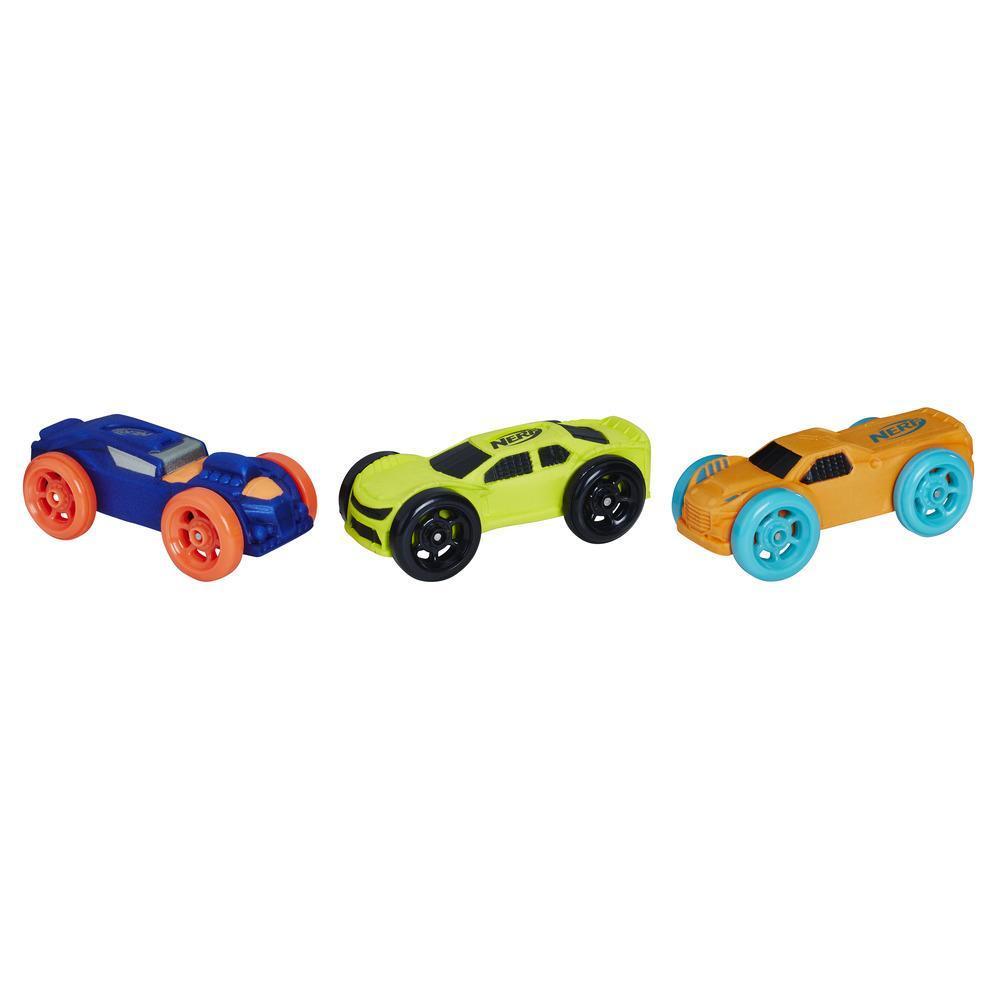 Nerf Nitro - Set de 3 autos de espuma (versión 9)