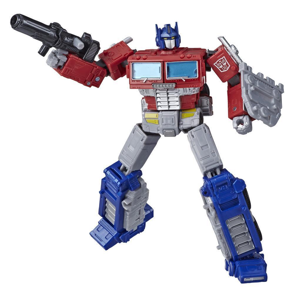 Juguetes Transformers Generations War for Cybertron: Earthrise - Figura WFC-E11 Optimus Prime clase líder - 17,5 cm