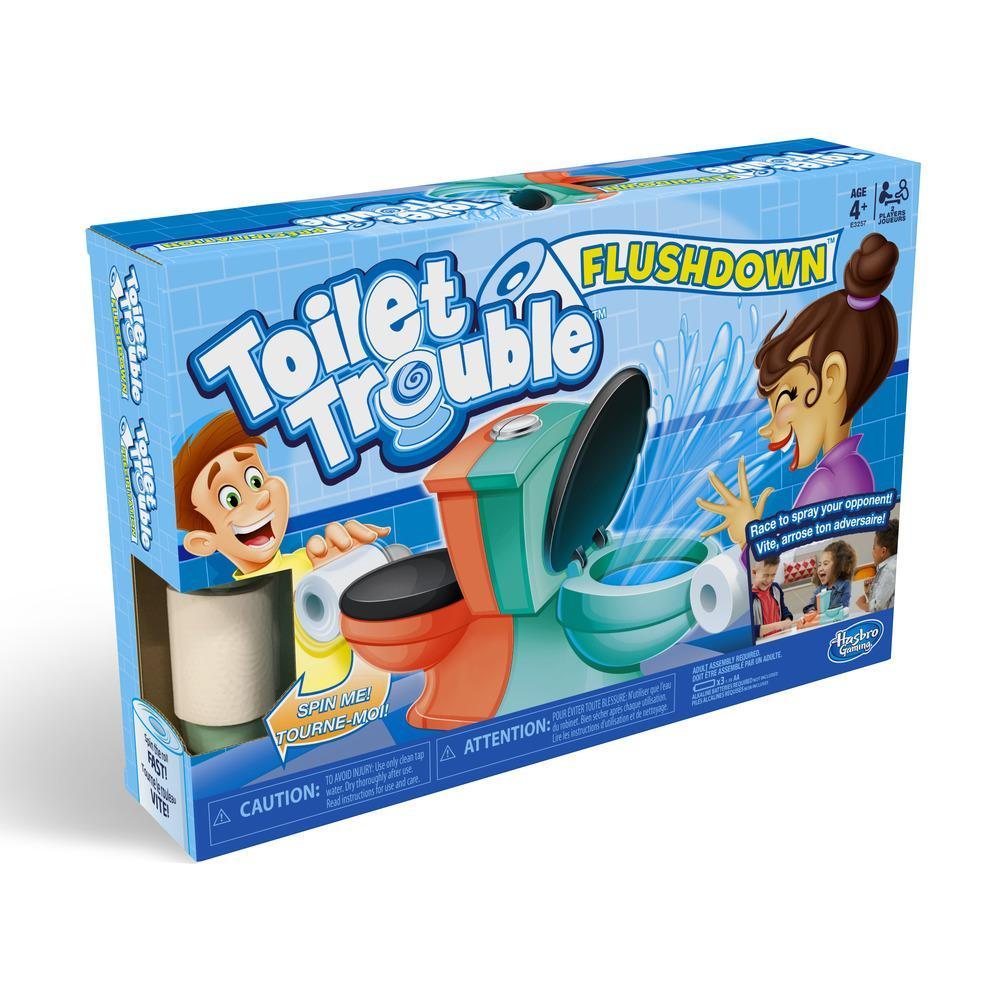 Toilet Trouble Flushdown Juego de agua para niños  Edad 4+