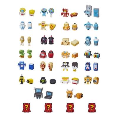 Transformers BotBots Toys Series 1 - Greaser Gang -- Empaque de 8 figuras - ¡Figuras coleccionables misterio 2 en 1! Product