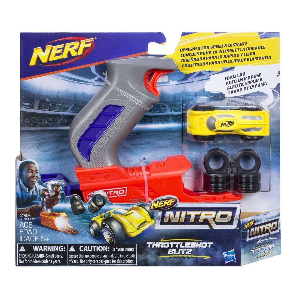 Nerf Nitro ThrottleShot Blitz (lanzador gris)