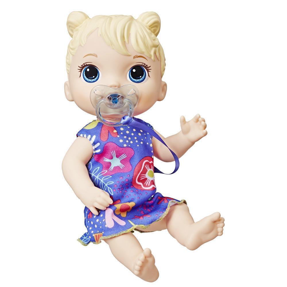 Baby Alive Bebé Soniditos: muñeca bebé interactiva para niñas y niños de 3 años en adelante, 10 efectos de sonido, incluyendo risas y llanto - muñeca bebé con chupón
