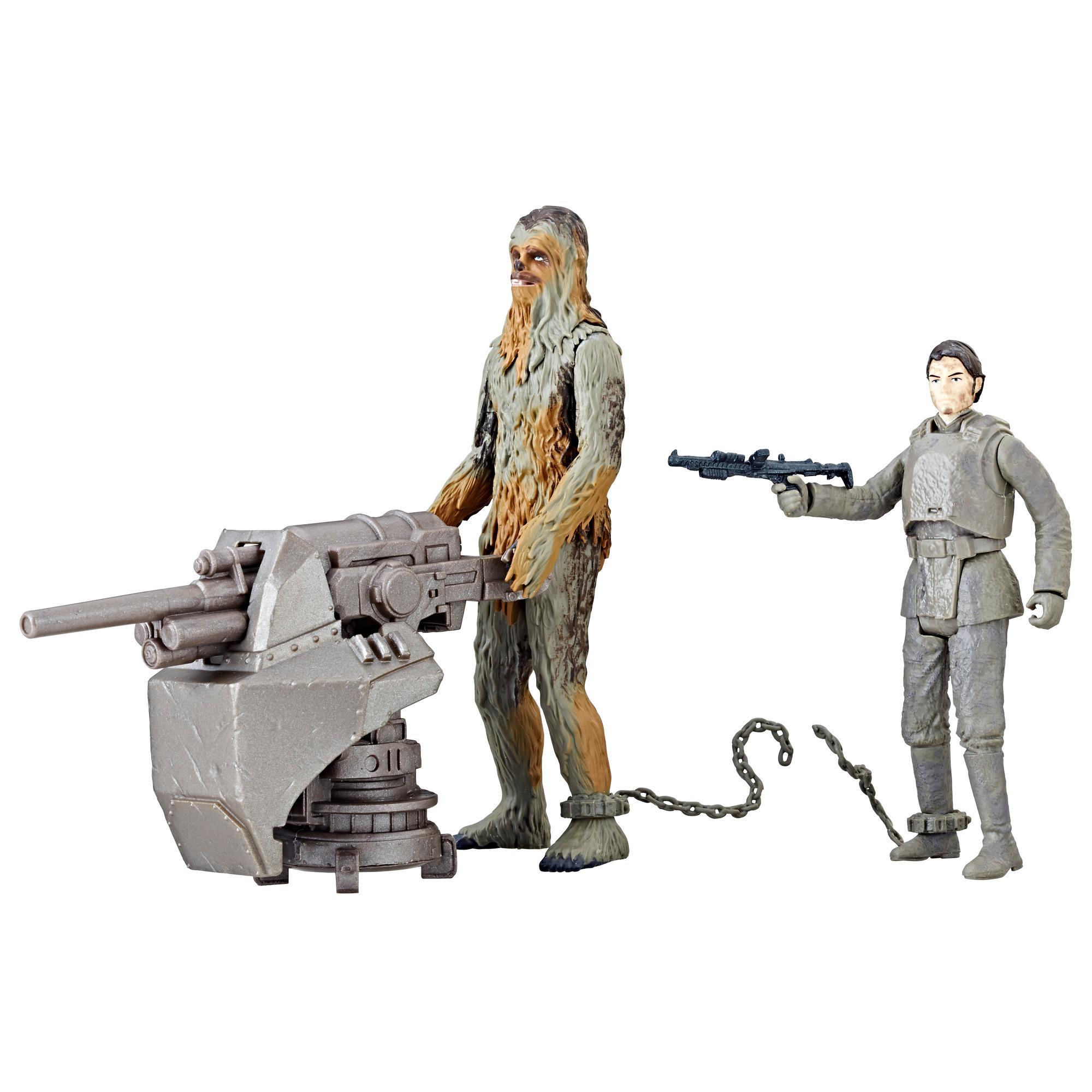 Star Wars Force Link 2.0 - Empaque doble con figuras de Han Solo (Mimban) y Chewbacca (Mimban)