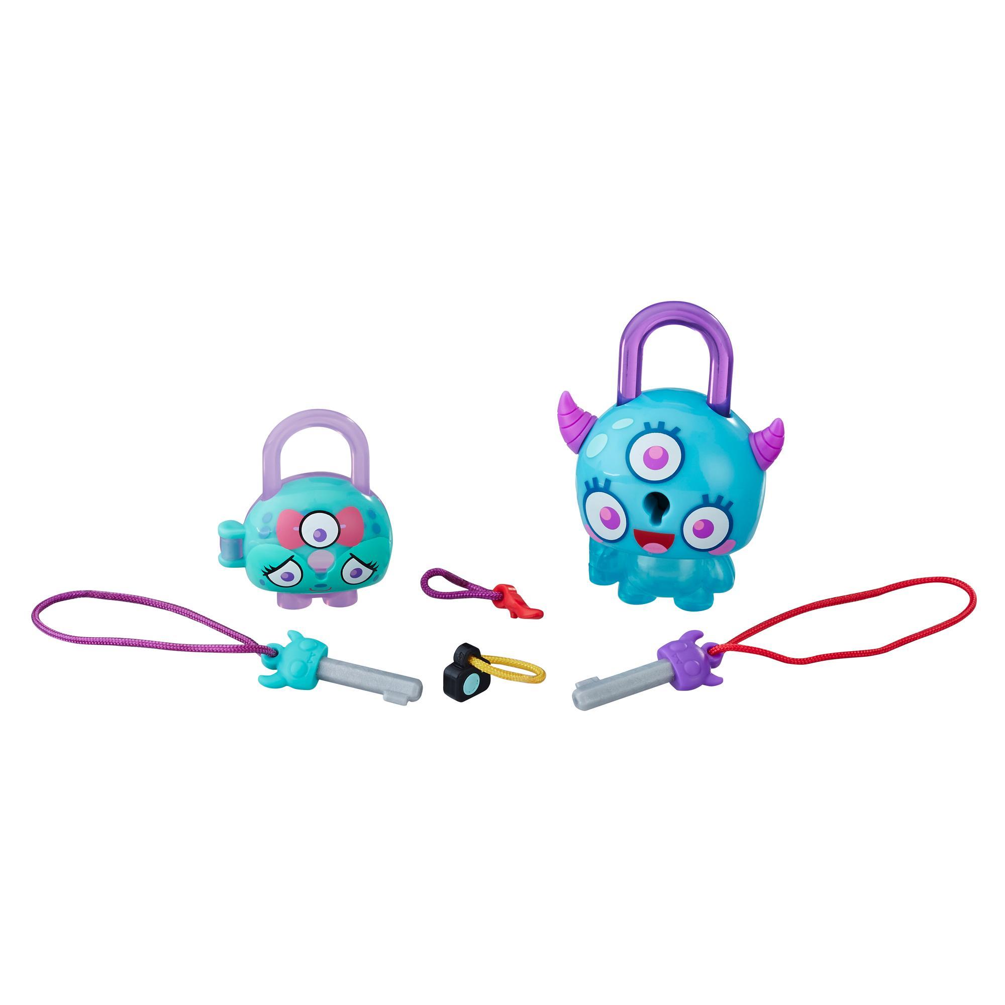 Lock Stars Monstruo verdeazulado con cuernos - Serie 1