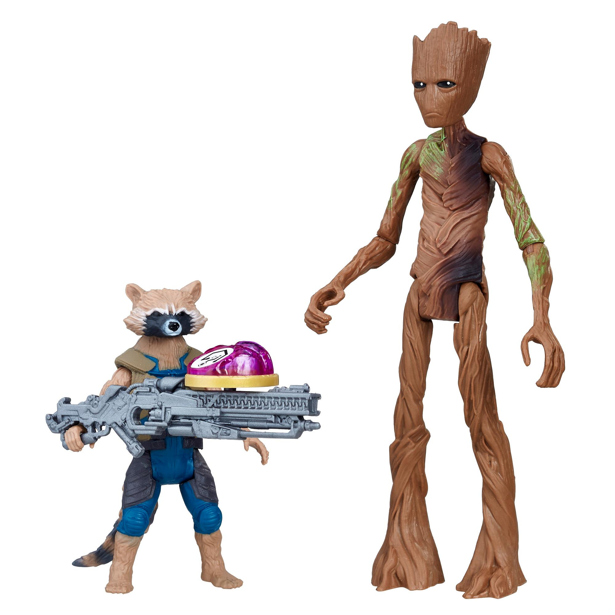 Marvel Avengers: Guerra del Infinito - Rocket Raccoon & Groot con Gema del Infinito