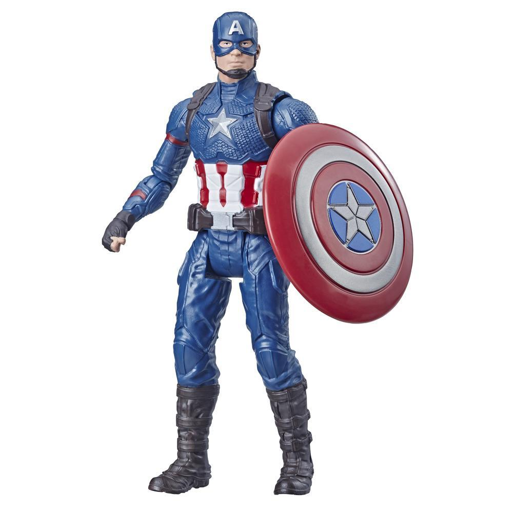 Marvel Avengers Captain America - Figura de acción de juguete de superhéroe Marvel a escala de 15 cm