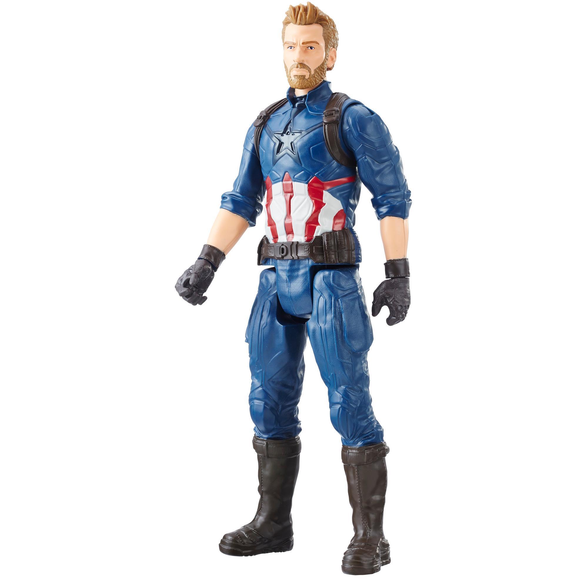 Marvel Infinity War Titan Hero Series - Captain America con puerto para Titan Hero Power FX