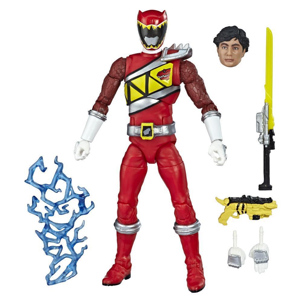Power Rangers Lightning Collection - Dino Charge Red Ranger - Figura de acción coleccionable de 15 cm