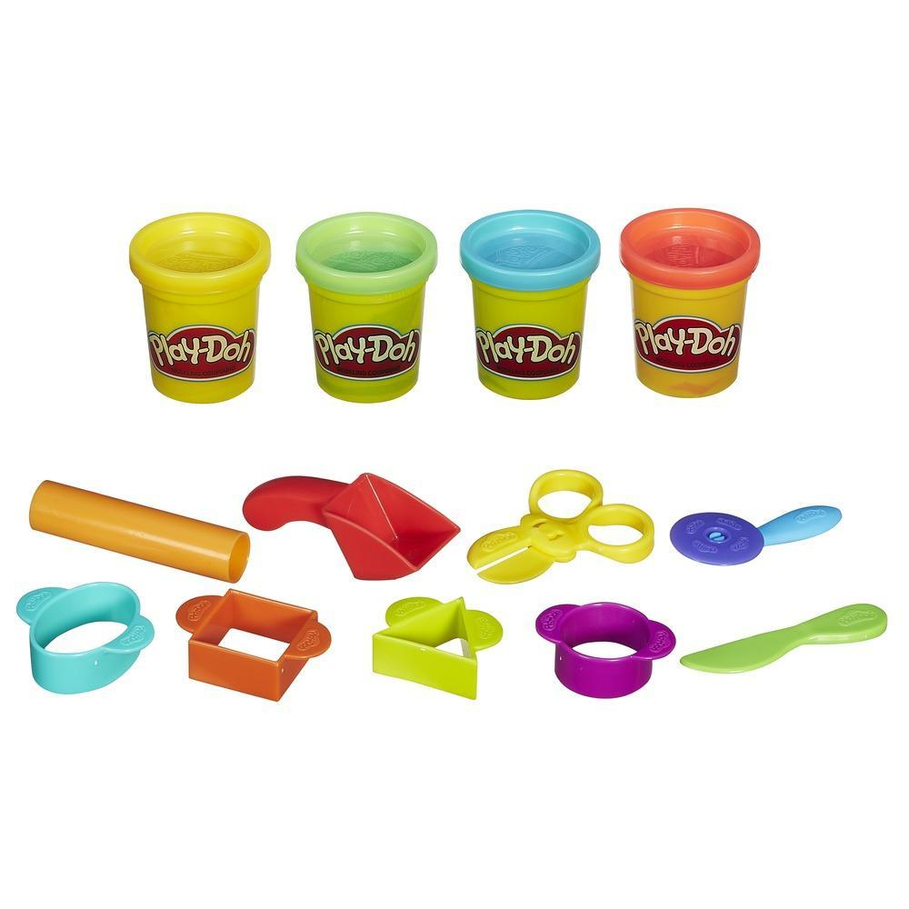 Play-Doh - Starter Set (Comprende 9 attrezzi classici e 4 colori Play-Doh)