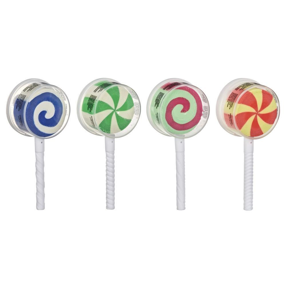 Play-Doh Lollipop 4-pack leikkikarkkimuotteja, joissa on 84 g myrkytöntä Play-Doh-muovailuvahaa
